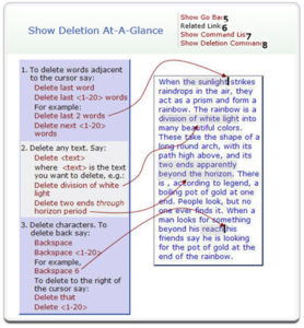 Deletion help at a glance